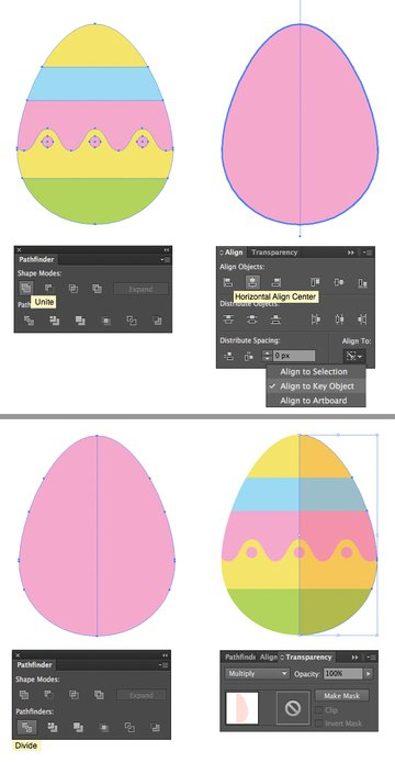 add a flat shadow to the egg