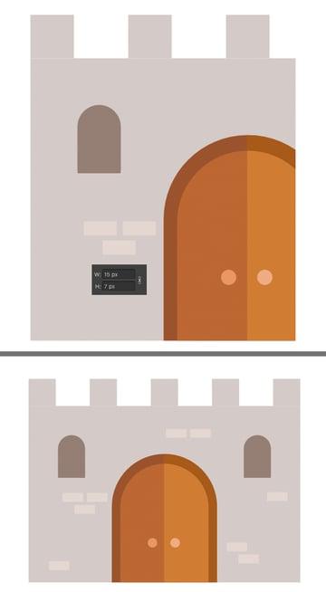 add bricks to the wall