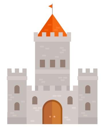 flat castle look