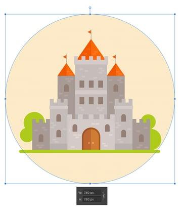 add a circle background