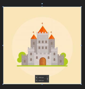 add a square background