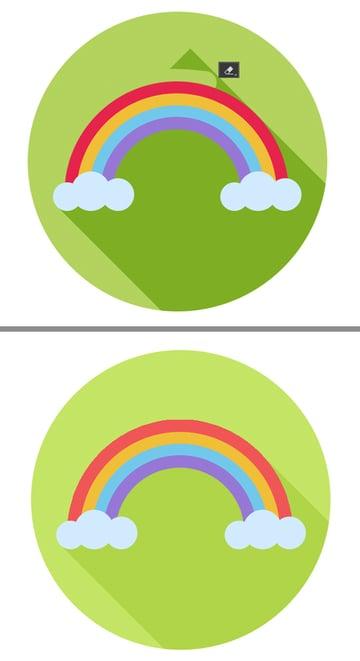 flat rainbow icon is ready