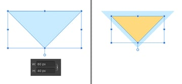 make a triangle cocktail glass bowl