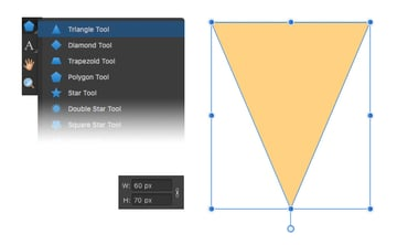 make a triangle ice-cream cone