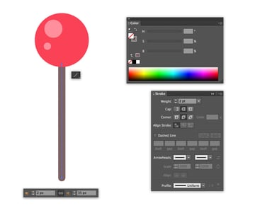 make a stem with the Line Segment Tool