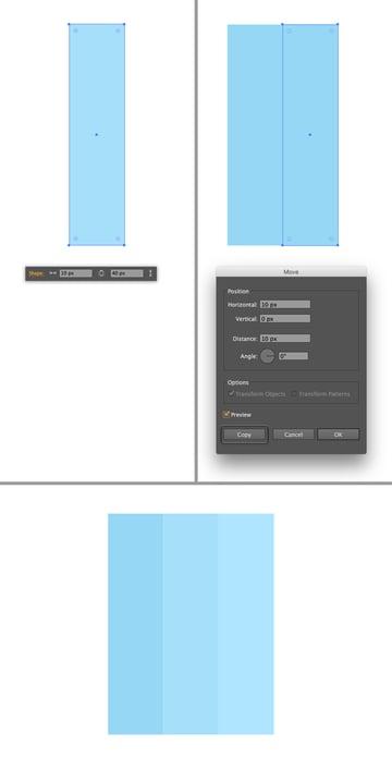 make three rectangles