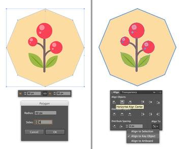 make an octagon icon base