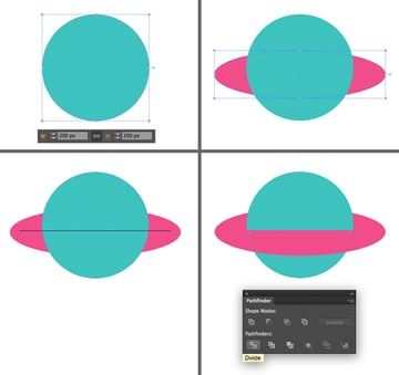 make a flying saucer from ellipses