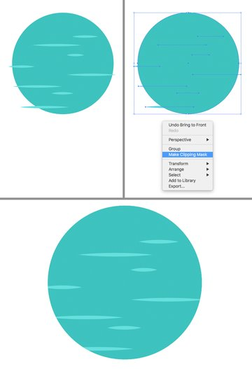 Make Clipping Mask to hide the strokes inside