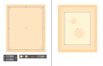 make a picture frame from the rectangle