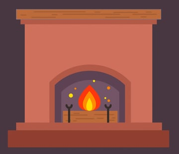 add a mantelshelf on top of the fireplace