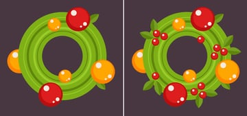 Finish up with the wreath by adding details