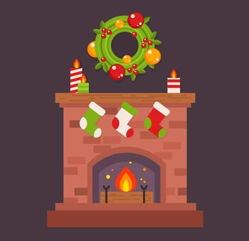 Hang the wreath above the fireplace