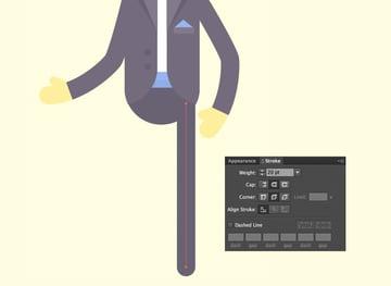 use the Line Segment Tool to make the leg