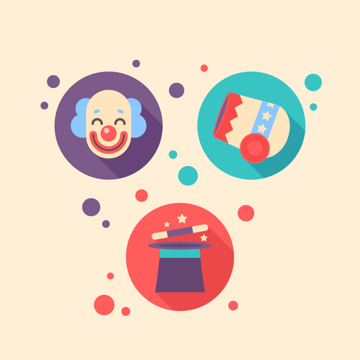 Circus Flat Icons are Finished