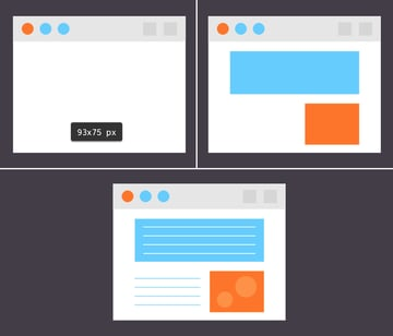 create a webpage icon from simple shapes