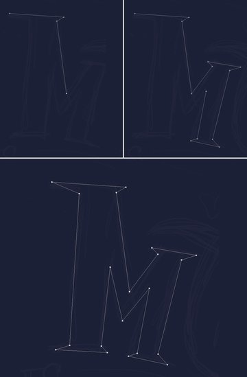 use the Pen Tool to draw out the letter M