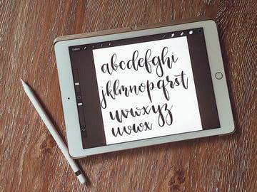 designing a script font