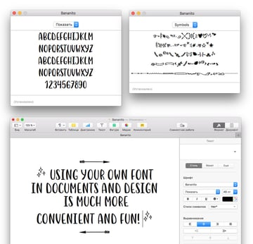 using font in a software