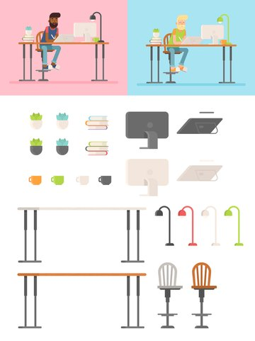 Hipster Designer illustration