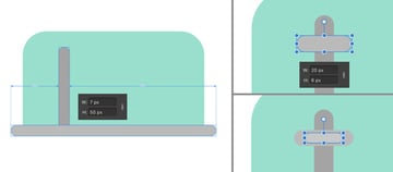 create a knob from rounded rectangles