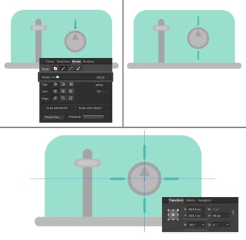 create notches with pen tool