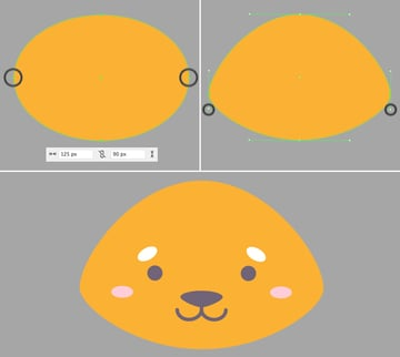 make a head from the ellipse