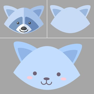 make a raccoons face