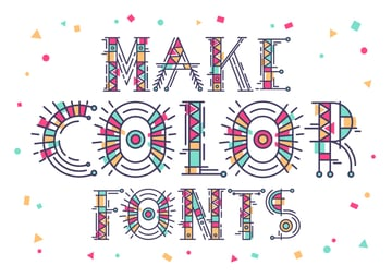 Color Font in Fontself