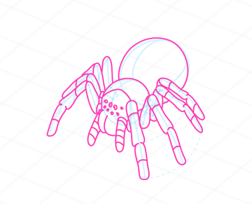 How to draw a spider - tutorial