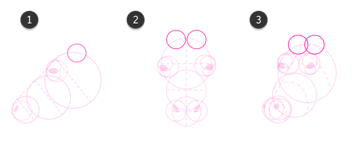 How to draw cow head 6