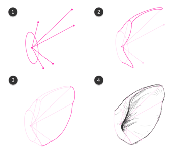 how to draw pig ears