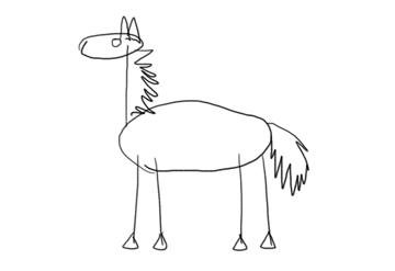 i cant draw a horse