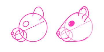 rodents how to draw chipmunk head