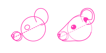 rodents how to draw mouse head