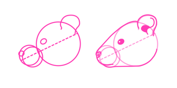 rodents how to draw rat head