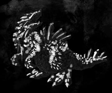concept art monster strong light