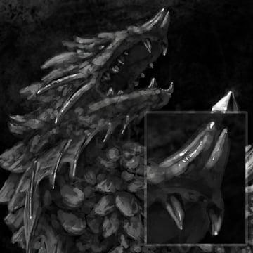 concept art monster painting crystal digital 12