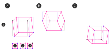 how to draw cube in perspective rotation 11