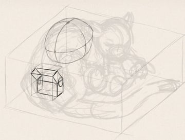 how to draw animals in perspective 3d depth 7