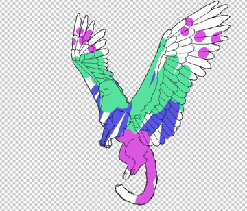animation animal griffin flight flying wings draw photoshop body lineart 12