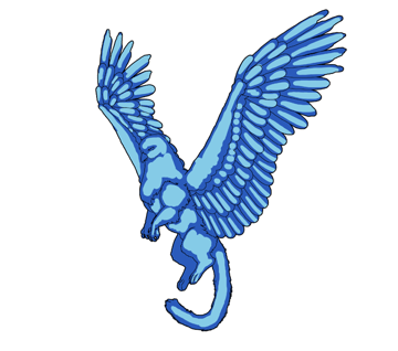 animation animal griffin flight flying wings draw photoshop color 2