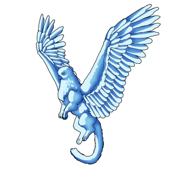 animation animal griffin flight flying wings draw photoshop color 8 shading feathers