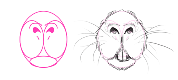 how to draw porcupine north american nose mouth teeth