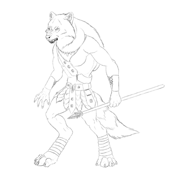 character design concept line art