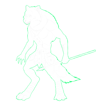 character design concept outline clipping mask 2