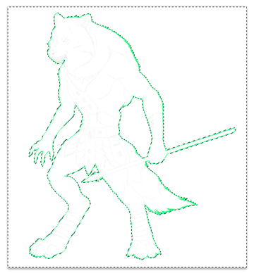 character design concept outline clipping mask 3