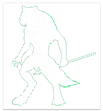 character design concept outline clipping mask 4