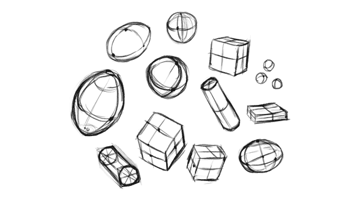 how to learn drawing simple forms perspective 2