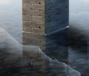 photoshop digital pain ice frozen lake water 34
